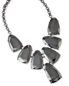 0823c124084 Harlow Statement Necklace in Gray Hematite