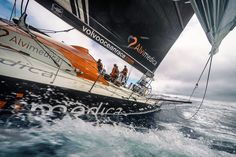 March 22, 2015. Leg 5 to Itajai onboard Team Alvimedica. Day 4. Fast upwind sailing through the southern latitudes. Conditions remain variable and puffy for the last 48 hours until the next low pressure system takes over, forecasted to bring a quick rise in wind and waves - Amory Ross / Team Alvimedica / Volvo Ocean Race