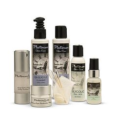 Platinum Complete Rejuvenation kit. HUGE kit with every type of product needed to transform your tired complexion into something SMOOTH and worthy of the red carpet! Glycolic peel, Glycolic cleanser & Toner, High Octane Vitamin C Serum, Platinum Eyes Restoration Therapy, and 15% glycolic Serum.   $138.95 and up. Additional options and upgrades available at Platinum Skin care.