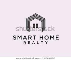 Hexagon smart home line art logo design inspiration Data Logo, Real Estate Logo, Logo Design Inspiration, Smart Home, Line Art, Web Design, Logos, Useful Tips, Artists