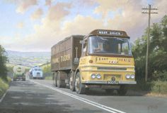 by Mike Jeffrie Nostalgic Pictures, Nostalgic Art, Vintage Trucks, Old Trucks, Classic Trucks, Classic Cars, Old Lorries, Road Transport, Truck Art