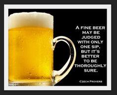 Czech beer proverb.