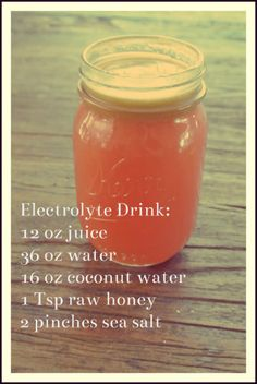 basic electrolyte drink3 Dump the Zero & Get w/ a Hero: Ditch Gatorade & Make Your Own Natural Sports Drinks