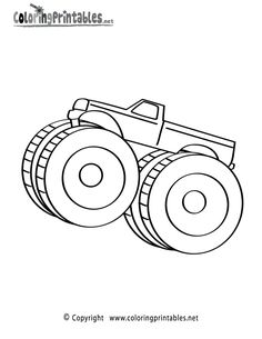 monster truck coloring page | Decorating ideas | Pinterest | Monster ...