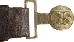 Visually and Historically Probably the Most Remarkable Civil War  Captured Confederate Belt Set Extant....