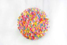 Artist Kevin Champeny Uses Gummie Bears to Create Spherical Light #lighting #design trendhunter.com
