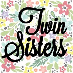 I Love My Twin Sister Quotes Adorable Twin Sister Quote Print On A Book Pageespartostudio On Etsy