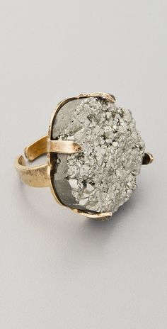 Statement ore. Pyrite Ring by Citrine by the Stones. Via ShopBop.