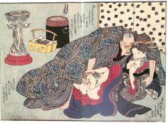"Kunisada Utagawa ""Shunzyou-yatsudan of Mizuagetyou"" figure 4 #shunga #art #springpictures #woodblock #Japan #Japanese #utagawa #KunisadaUtagawa #asianart #antique"