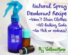 Homemade natural spray deodorant recipe Spray Deodorant Recipe