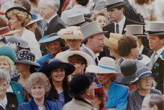 ROYAL ASCOT 1991 PRINCESS DIANA & FERGIE