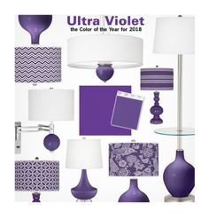 """""""Ultra Violet - the Color of the Year for 2018 - Pantone"""" by beebeely-look ❤ liked on Polyvore featuring interior, interiors, interior design, home, home decor, interior decorating, homedecor, lamps, pantone and lampsplus"""