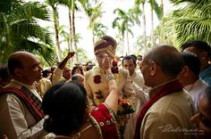 """This Ceremony is done by Bride's Mom when Groom come to Bride's Home with """"BARAT"""""""