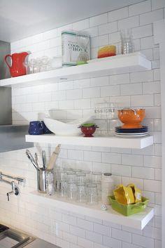 Modern Kitchen Shelves by Brooke Jones Designs via Modern Sophisticate Blog