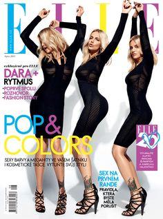 Dara Rolins & Rytmus for Elle Czech August 2014 Elle Magazine, Magazine Design, Magazine Covers, I Got U, Celebrity Stars, August 2014, Hot Dress, Fashion Days, Czech Republic