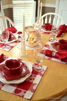 Valentine Day tablescape