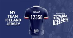 My Icelandic name is Ricardo Reissson. I joined #TeamIceland and I got this football jersey with my Icelandic name on it and the chance to win a trip to Iceland.