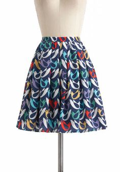 On The Wings Of Doves Skirt, #ModCloth $40