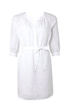 Trenery White Linen Dress