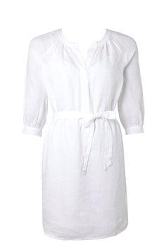 Trenery White Linen Dress