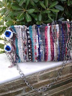 Bohemian bag,Woven bag, Kourelou bag,Boho bag,Evil eye, Pom pom,Cross body bag,Rug bag,Birthday  gift,Gift for her,Bohemian style,trendy bag