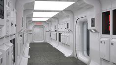 space ships interior OR exterior - Google Search Spaceship Interior, Futuristic Interior, Futuristic Design, Nave Star Wars, Star Wars Room, Sci Fi Environment, Star Wars Episode Iv, Star Wars Models, Spaceship Concept