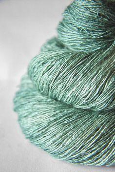 Freezing mountain air  Tussah Silk Lace Yarn by DyeForYarn on Etsy, €26.50
