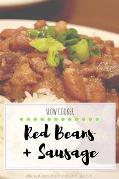 Here's a reader requested food post! My recipe for slow-cooker red beans and sausage, with pictures. See how to cook this authentic Louisiana dish!