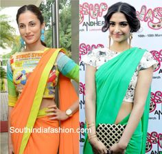 plain_saree_with_quirky_fun_print_blouse