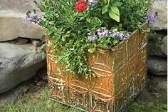 Ceiling tile planter box from This Old House