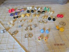 30 Pair Vintage Pierced Earrings Assortment Assorted Lot Beautiful Condition Large Variety Sizes, Styles & Colors by EvenTheKitchenSinkOH on Etsy