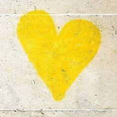 Yellow Heart....  | Pastel Yellow Color Theory