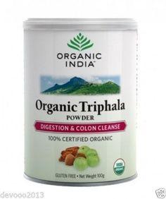Organic India Triphala Powder, 100gm / Pack, Gluten Free, USDA Organic