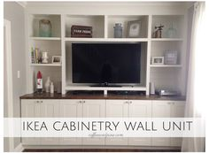 Ikea Hack - Wall Unit. An affordable way to build a wall unit in your home through using #ikea #cabinetry ! best #diy yet www.coffeeandpine.com