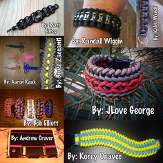 #MondayMedley---March 2nd, 2015 Edition!!  Share this around to spread the work of our talented crafting fanbase! This week's contributors are: Aaron Raak, Andrew Cruver, Bob Elliott, Bruce Zaccanti, JLove George, Kaleb Wendt, Korey Oravec, Matt Bishop, and Randall Wiggin.    #paracord   #monday   #medley   #collage   #cord   #crafting   #crafts   #diy   #bracelet   #lanyard   #tying   #knotting   #handmade