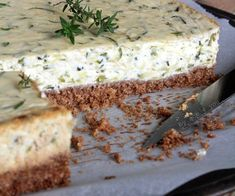 Zucchini and Thyme Cheesecake - Savory Cheesecake Recipe - Cheesecake Recipes Savory Cheesecake, Easy No Bake Cheesecake, Mini Cheesecake Recipes, Classic Cheesecake, Homemade Cheesecake, Ricotta, Zucchini, Kinds Of Cheese, Apple Smoothies