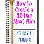 One of the tools I created for myself that I have found makes meal planning a breeze is having a tried & true 30 Day Meal Plan Rotation. Although it may sound complicated, I promise you it is not. It will however take you a month or two to prepare it. But once you have […]