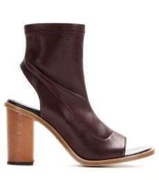 Chloé - Leather open-toe ankle boots