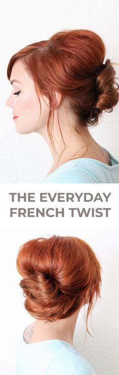 Everyday french twist hair tutorial