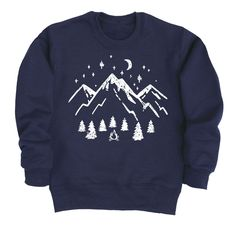 Winter is here whether we like it or not and what better way to embrace the season than with a brand new pullover from Kidteez Winter Adventure collection This super comfortable Simple Mountain Scene