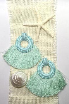 f5b98ed2375c Earrings Adore with Mint Fringe