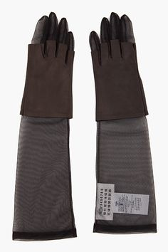 Leather Combo Gloves by Maison Martin Margiela; I bet these look AMAZING on.