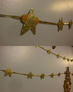My friends and I made these beautiful star trek garlands for our New Years Party