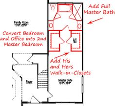 Master Suite Custom Floor Plans. Get rid of the tub and put the double sinks there. Maybe put towel storage where sinks are...