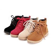 Boots Martin nữ thắt dây, màu sắc thời trang, phong cách Hàn Quốc