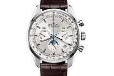 Buy this new Zenith El Primero 410 Complete Calendar Moonphase mens watch for the discount price of UK Retailer. Used Watches, Cool Watches, Watches For Men, Men's Watches, Fashion Watches, Elegant Watches, Beautiful Watches, Modern Watches, Patek Philippe Calatrava