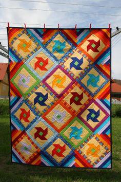 Windradquilt - Taufgeschenk für mein Patenkind Quilts, Blanket, Godchild, Kids, Nice Asses, Comforters, Blankets, Patch Quilt, Kilts