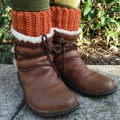 Easy to crochet boot cuffs add style and warmth without the bulk of a full sock. Free pattern included.