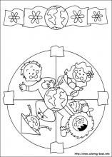Mandalas coloring pages for younger children