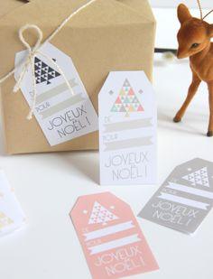 Papier cadeau et étiquettes DIY / Tags and paper gift by Zü